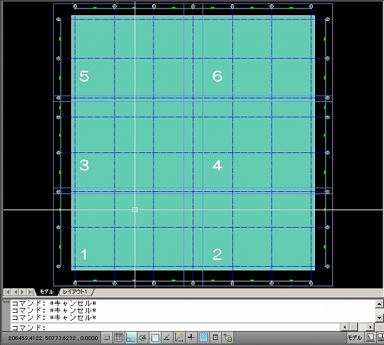 サンプル図面のモデル空間
